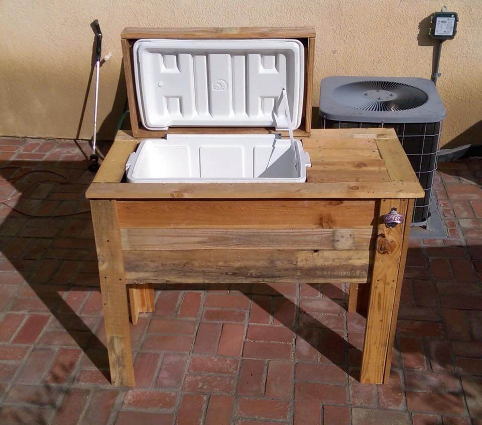 DIY Wood Cooler Box  DIY Pallet Cooler Stand Ice Chest Easy Pallet Ideas