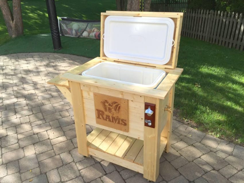 DIY Wood Cooler Box  He Turns This Garage Sale Cooler Into The Perfect Backyard