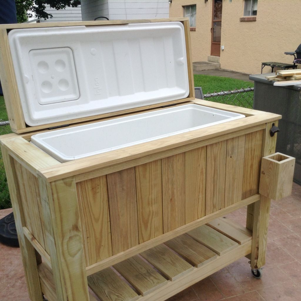 DIY Wood Cooler Box  Pin by Kevin Whalen on Diy cooler box