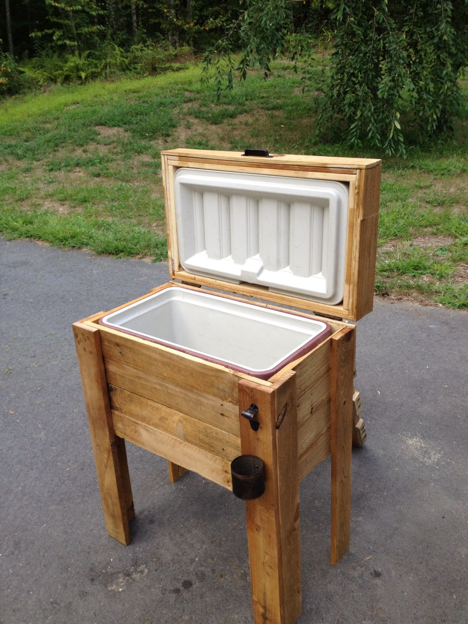 DIY Wood Cooler Box  The wooden cooler my hubby made