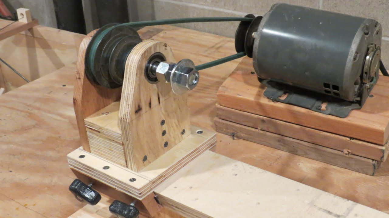 DIY Wood Lathe  Homemade Lathe Pt 1 The headstock and base
