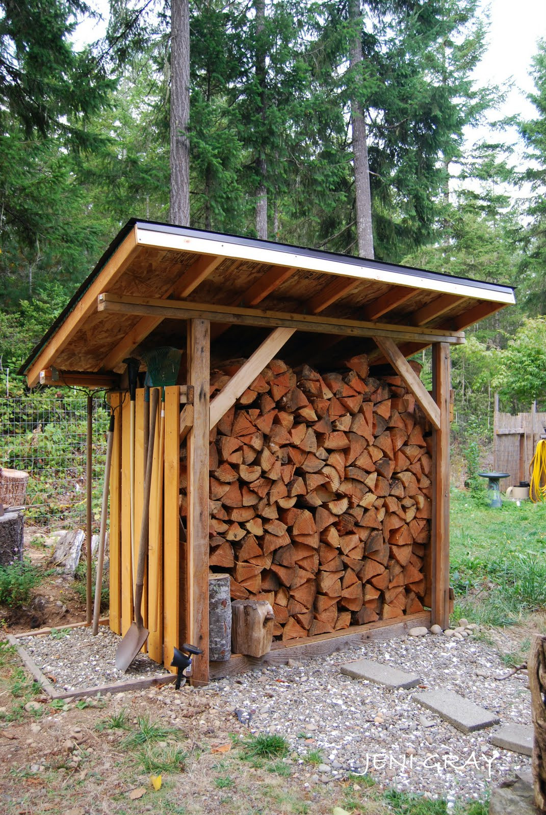 DIY Wood Storage Shed  Huckleberry Hollow New Pioneer s Wood Shed