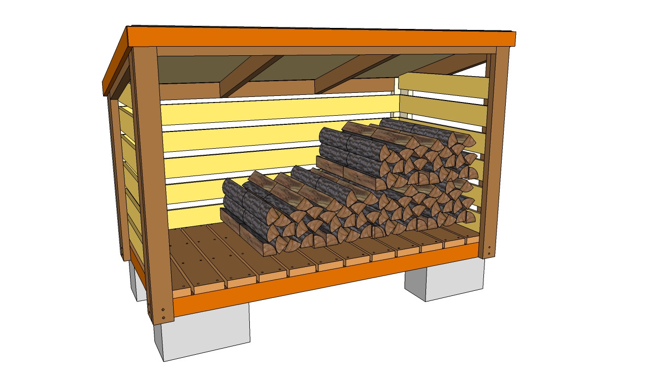 DIY Wood Storage Shed  10 Wood Shed Plans to Keep Firewood Dry