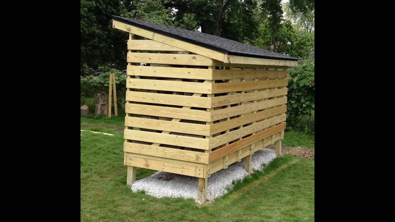 DIY Wood Storage Shed  How to build a Firewood Storage Shed