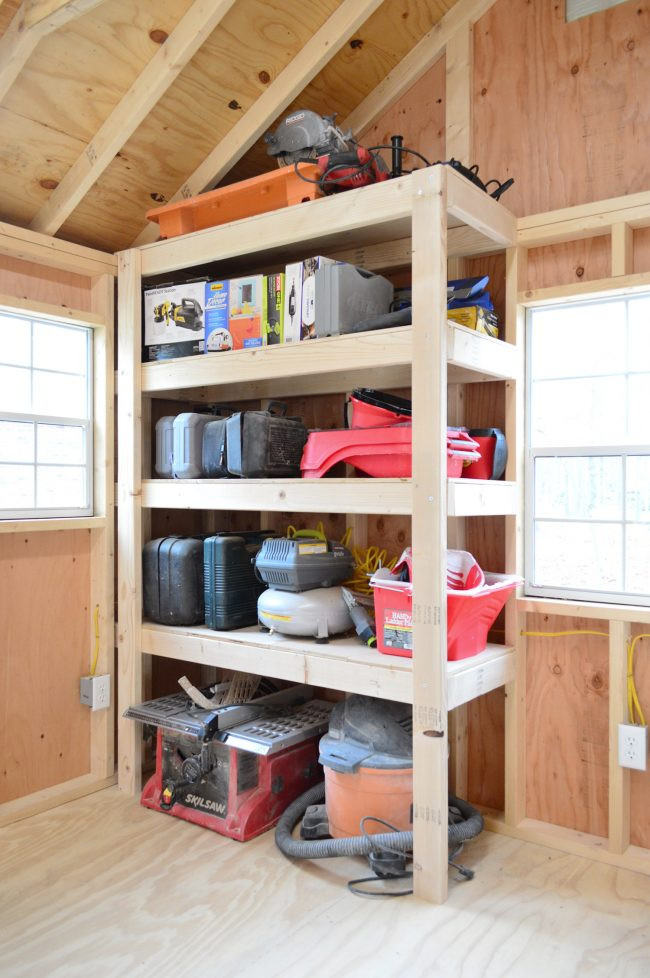 DIY Wood Storage Shed  4 Shed Storage Ideas For Tons Added Function