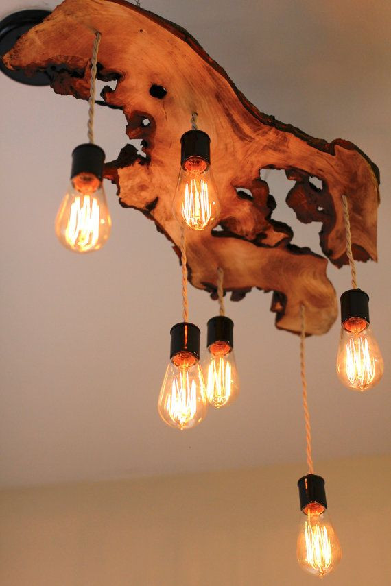 DIY Wooden Light Fixture  25 Beautiful DIY Wood Lamps And Chandeliers That Will