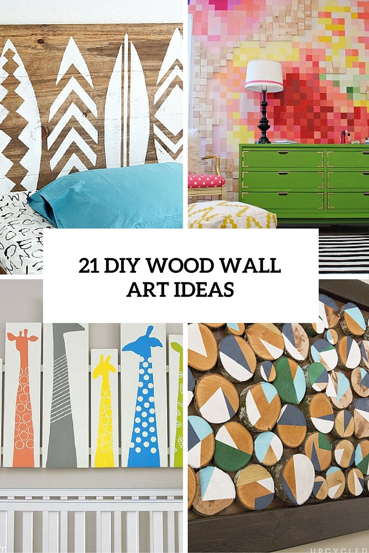 DIY Wooden Wall Art  21 DIY Wood Wall Artwork Pieces For Any Space And Interior