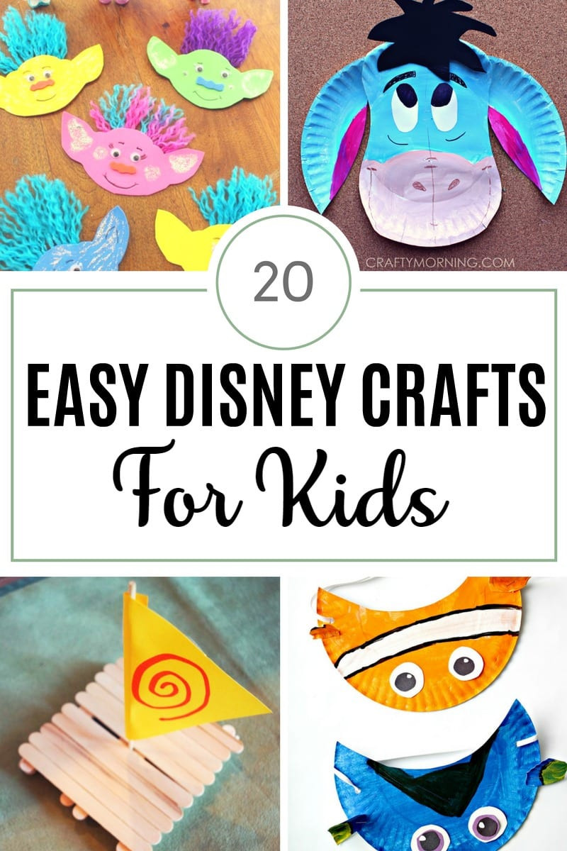 Easy Arts And Crafts For Toddlers  20 Easy Disney Crafts for Kids The Unprepared Mommy