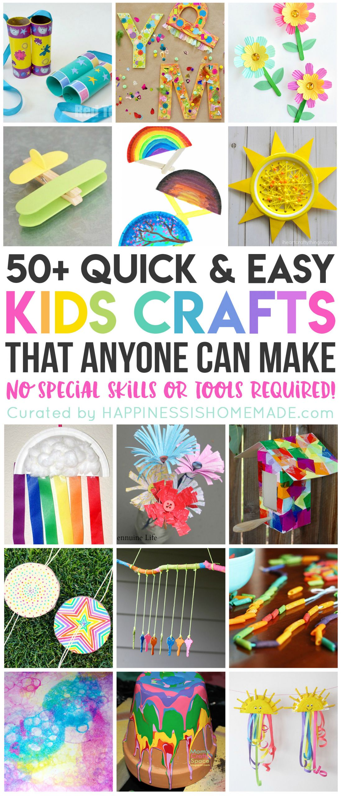 Easy Arts And Crafts For Toddlers  50 Quick & Easy Kids Crafts that ANYONE Can Make
