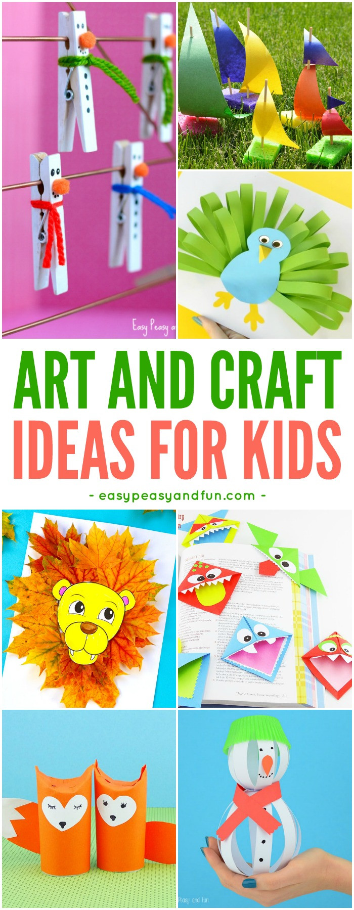 Easy Arts And Crafts For Toddlers  Crafts For Kids Tons of Art and Craft Ideas for Kids to