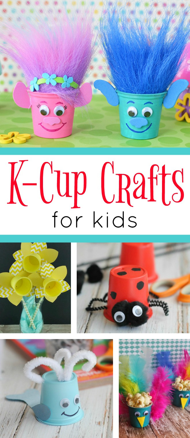 Easy Arts And Crafts For Toddlers  K Cup Crafts for Kids Recycling Keurig K Cups the Fun Way