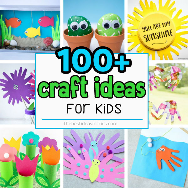Easy Arts And Crafts For Toddlers  100 Easy Craft Ideas for Kids The Best Ideas for Kids