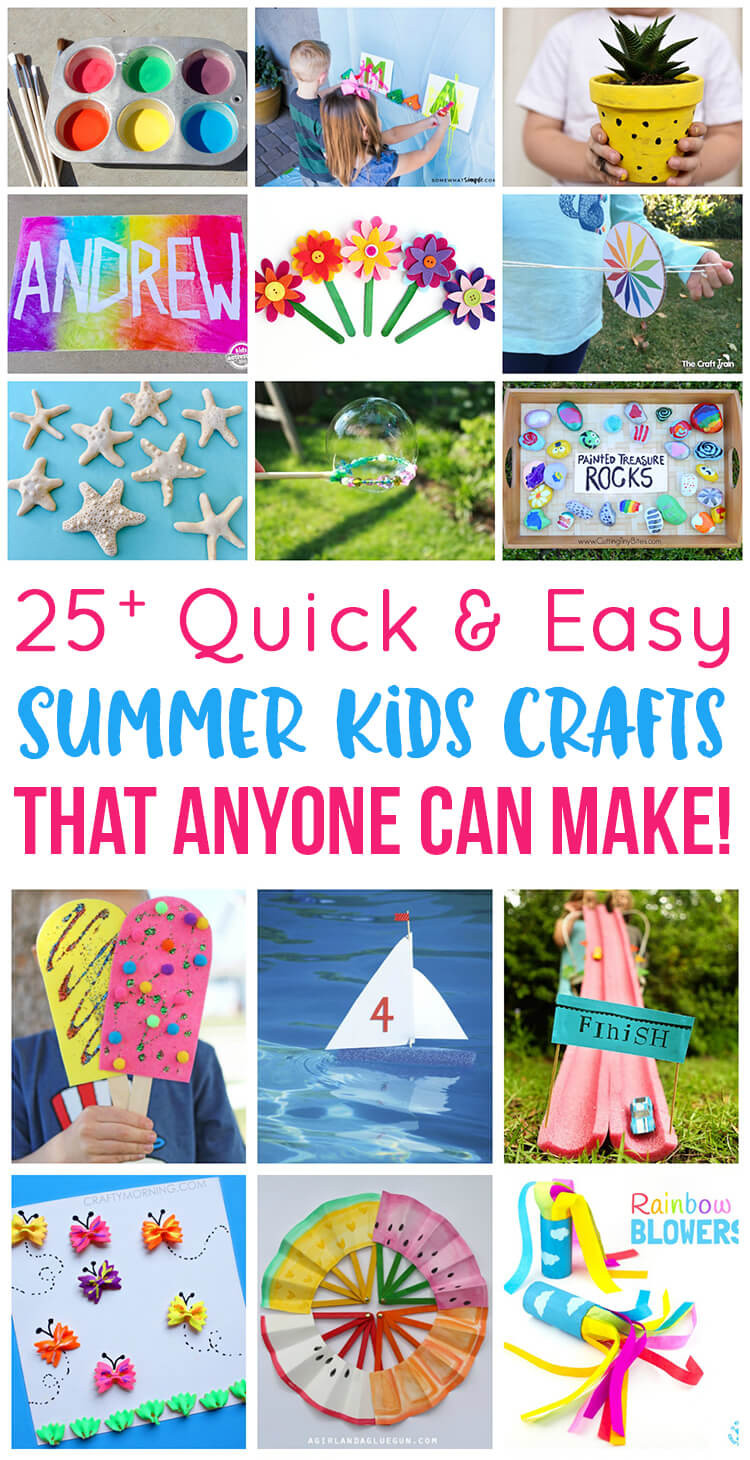 Easy Arts And Crafts For Toddlers  Easy Summer Kids Crafts That Anyone Can Make Happiness