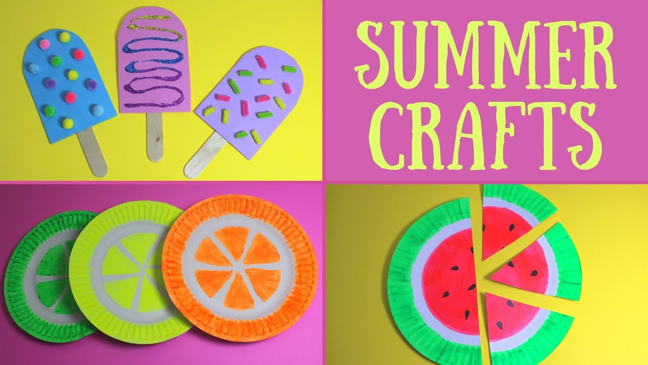 Easy Arts And Crafts For Toddlers  Easy Summer Crafts for Kids