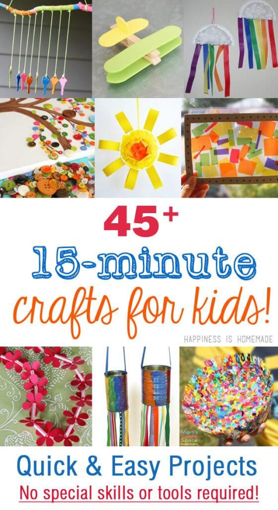 Easy Arts And Crafts For Toddlers  45 Quick & Easy Kids Crafts that ANYONE Can Make