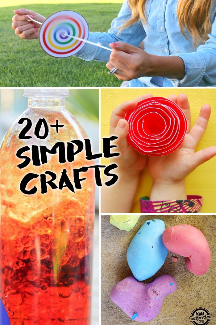 Easy Arts And Crafts For Toddlers  20 Simple Crafts Kids can Make with only 2 3 Supplies