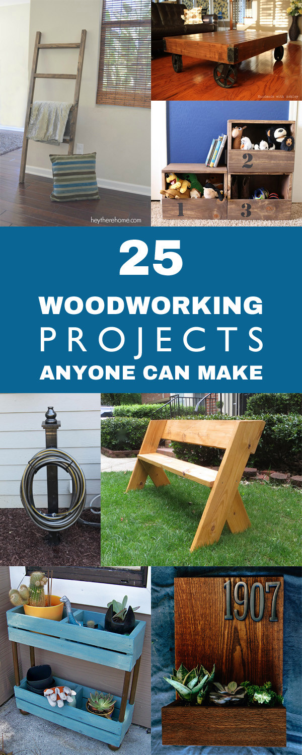 Easy DIY Wood Projects  25 Easy DIY Woodworking Projects Anyone Can Make