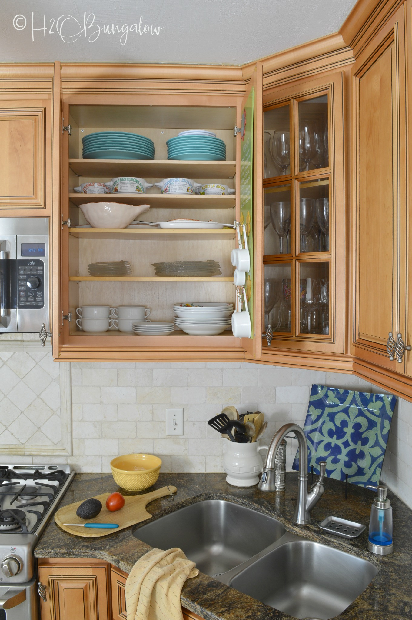 Extra Storage Cabinet For Kitchen  How to Add Extra Shelves to Kitchen Cabinets H2OBungalow