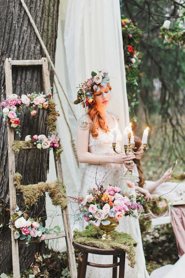 Fairy Wedding Theme  Enchanted forest fairytale wedding in shades of autumn 1