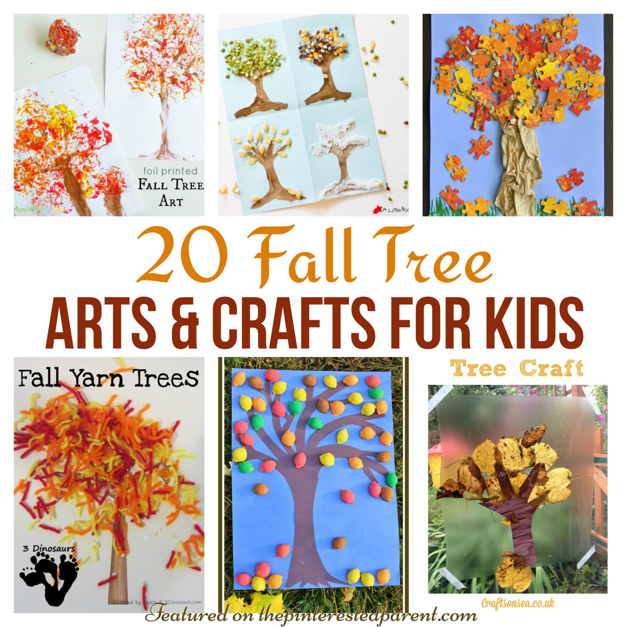 Fall Art Project For Kids  20 Fall Tree Arts & Crafts Ideas For Kids – The