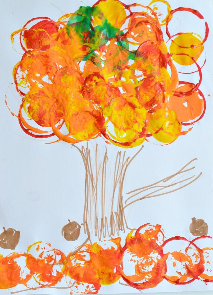 Fall Art Project For Kids  Fall Art Projects for Kids Easy fall tree printing