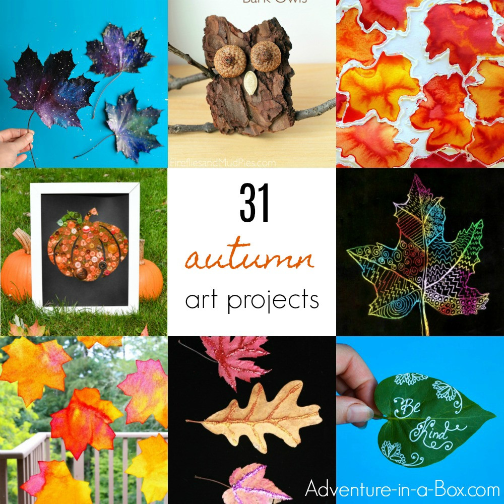 Fall Art Project For Kids  31 Art Projects for Children to Make in the Fall
