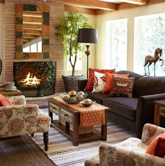 Fall Living Room Decorations  29 Cozy And Inviting Fall Living Room Décor Ideas DigsDigs