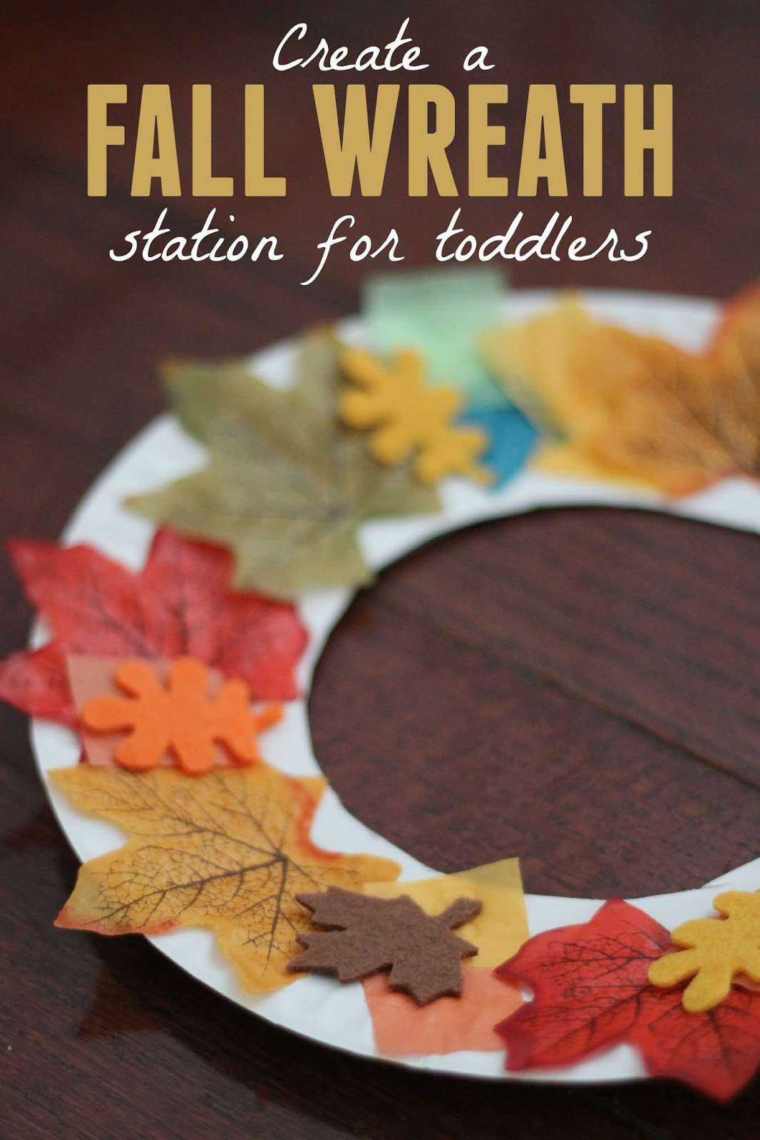 Fall Toddler Craft Ideas  Toddler Approved Fall Wreath Making Station for Toddlers