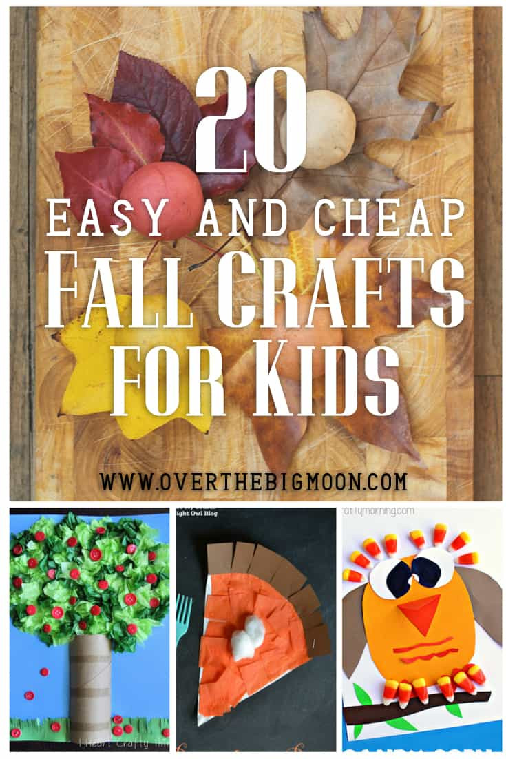 Fall Toddler Craft Ideas  20 Easy and Cheap Fall Kids Crafts