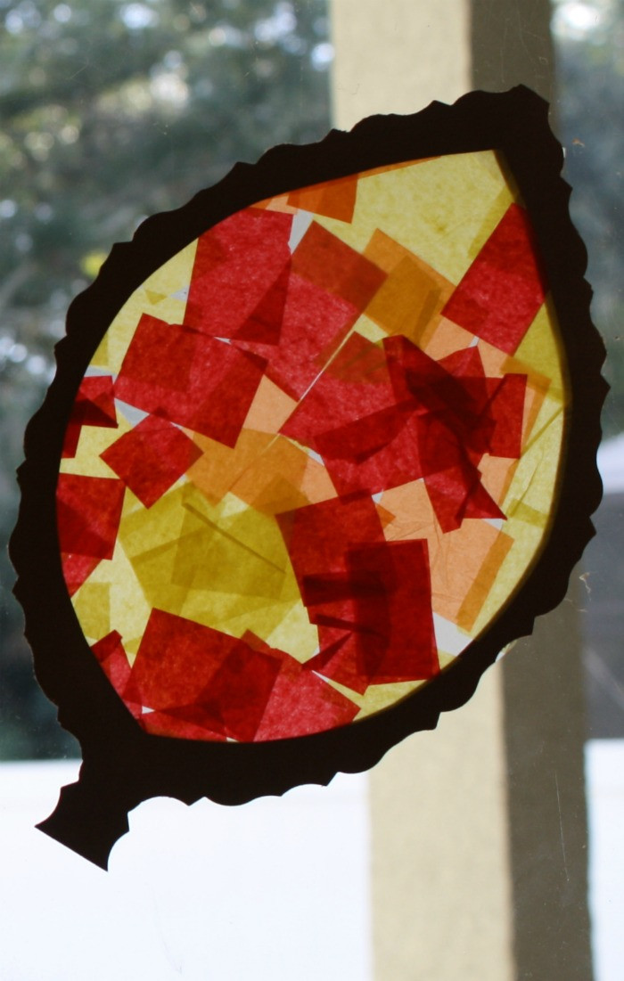 Fall Toddler Craft Ideas  Fall Craft for Toddlers and Preschoolers Leaf Sun Catcher