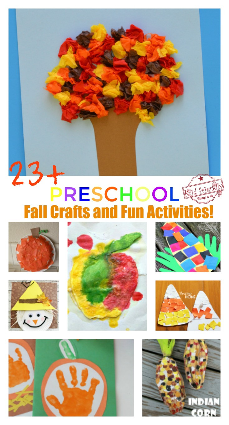 Fall Toddler Craft Ideas  Over 23 Adorable and Easy Fall Crafts that Preschoolers