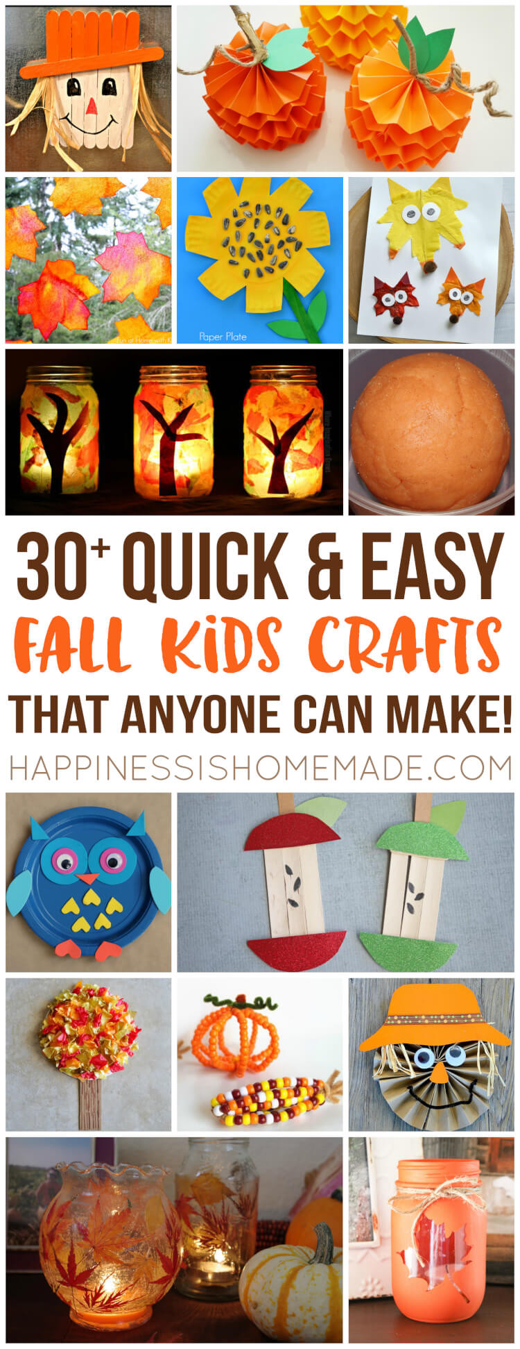 Fall Toddler Craft Ideas  Easy Fall Kids Crafts That Anyone Can Make Happiness is