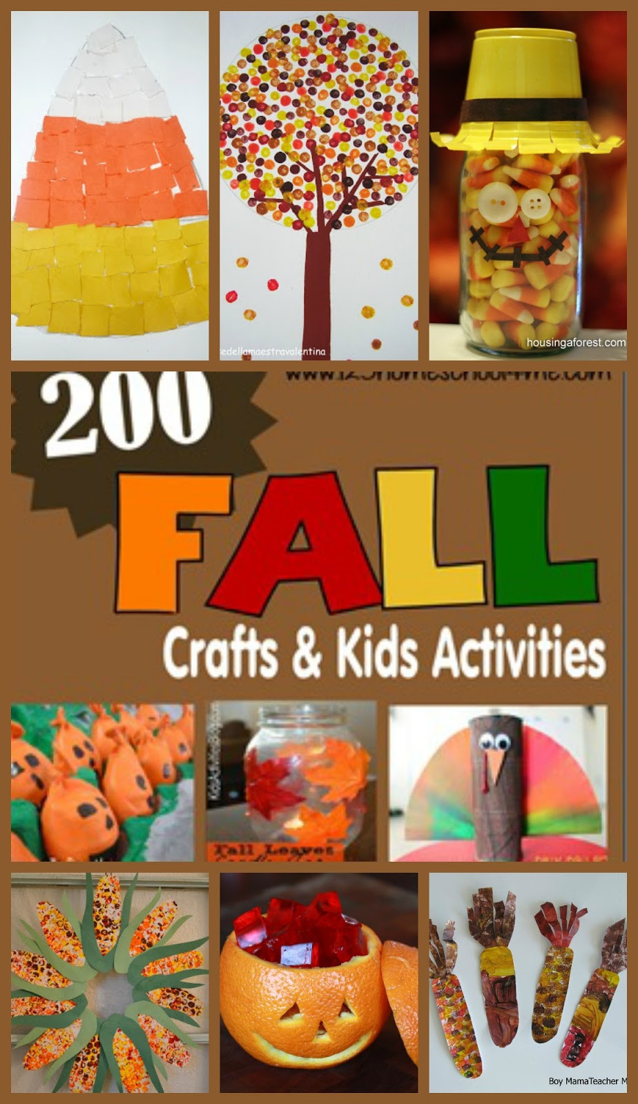 Fall Toddler Craft Ideas  200 Fall Crafts Kids Activities Printables and Snack Ideas
