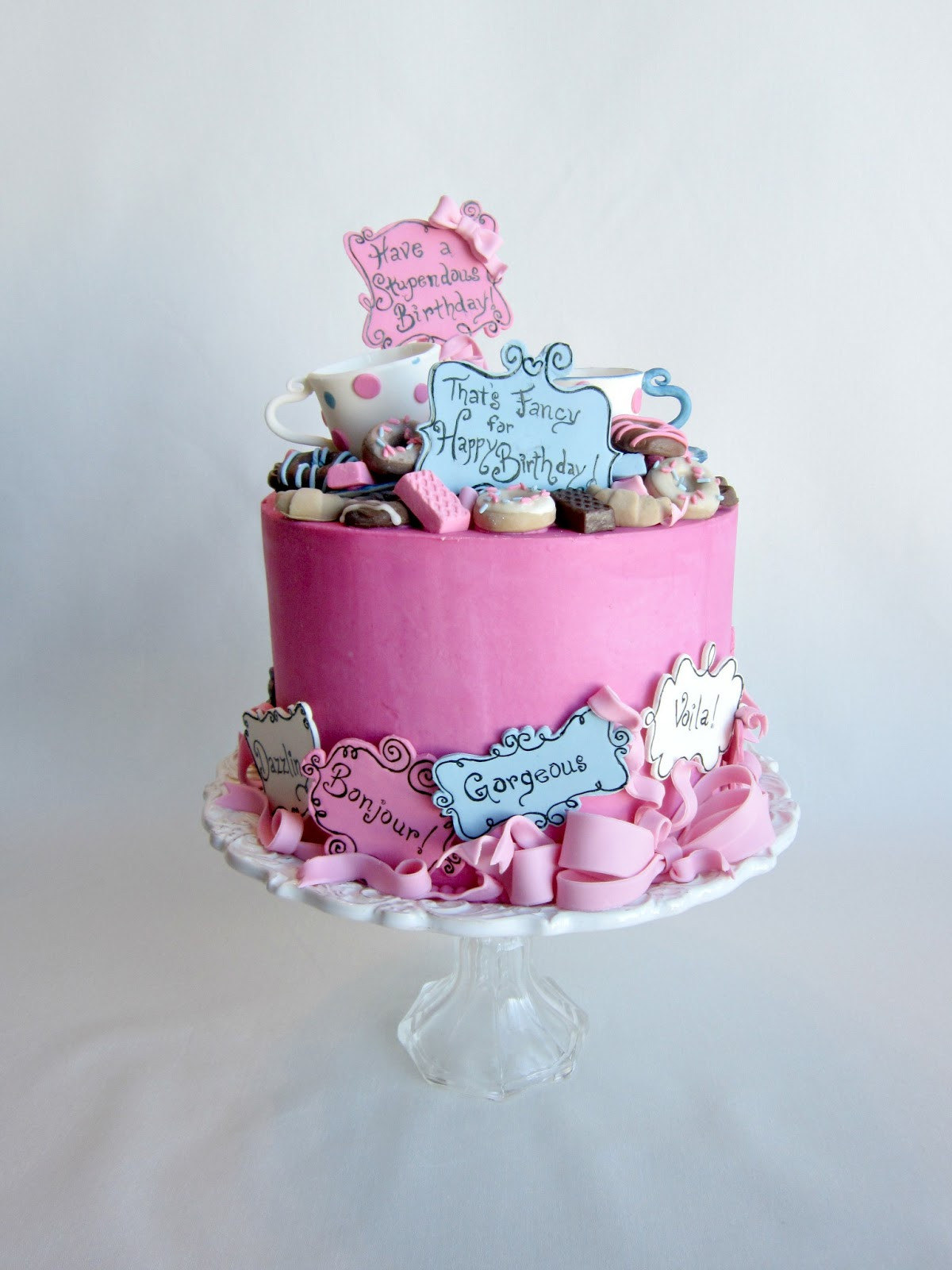 Fancy Birthday Cake  Delectable Cakes Most Stupendous Fancy Nancy Birthday Cake