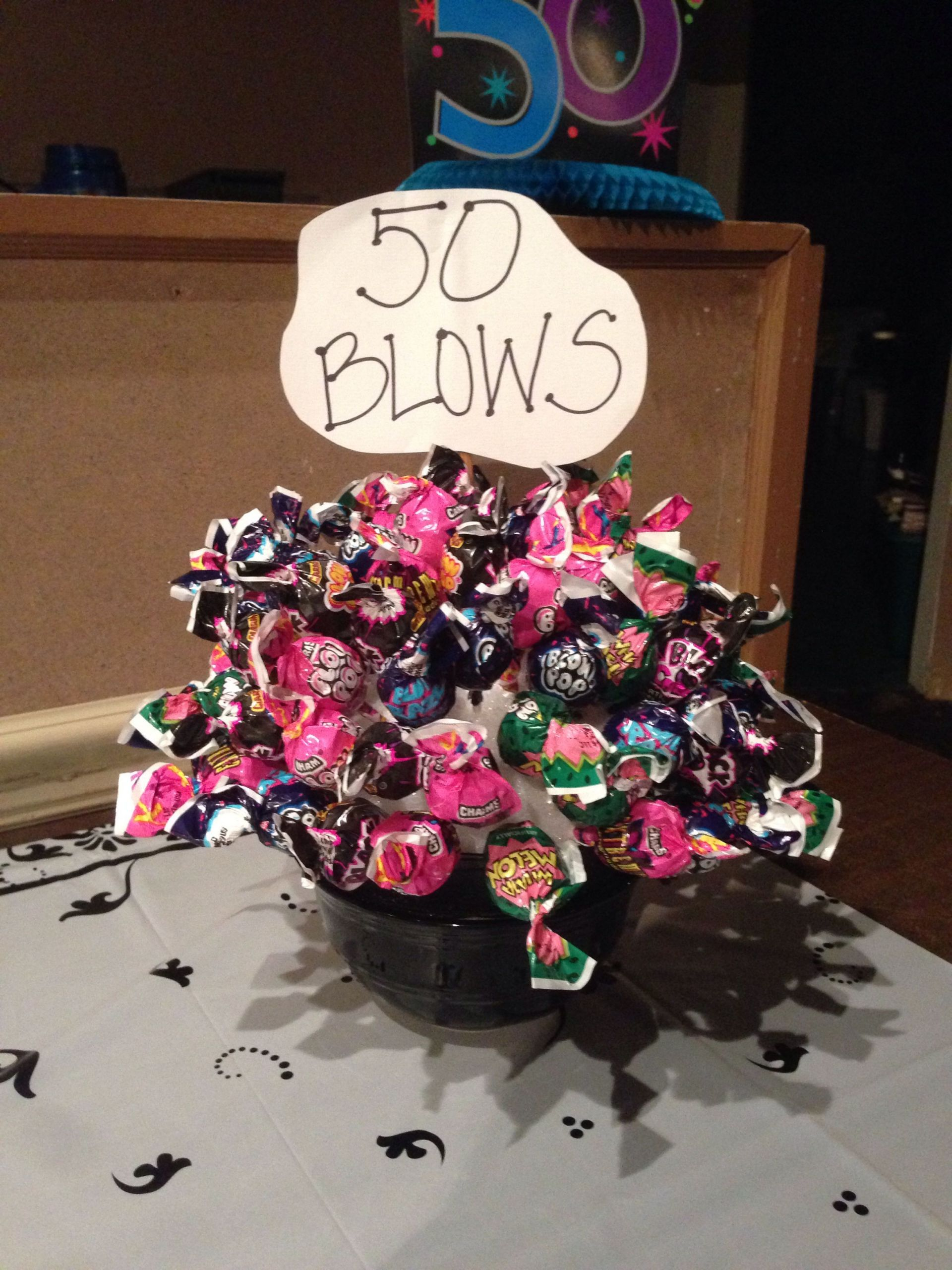 Fifty Birthday Gift Ideas  50 Blows bouquet for a 50th birthday party t