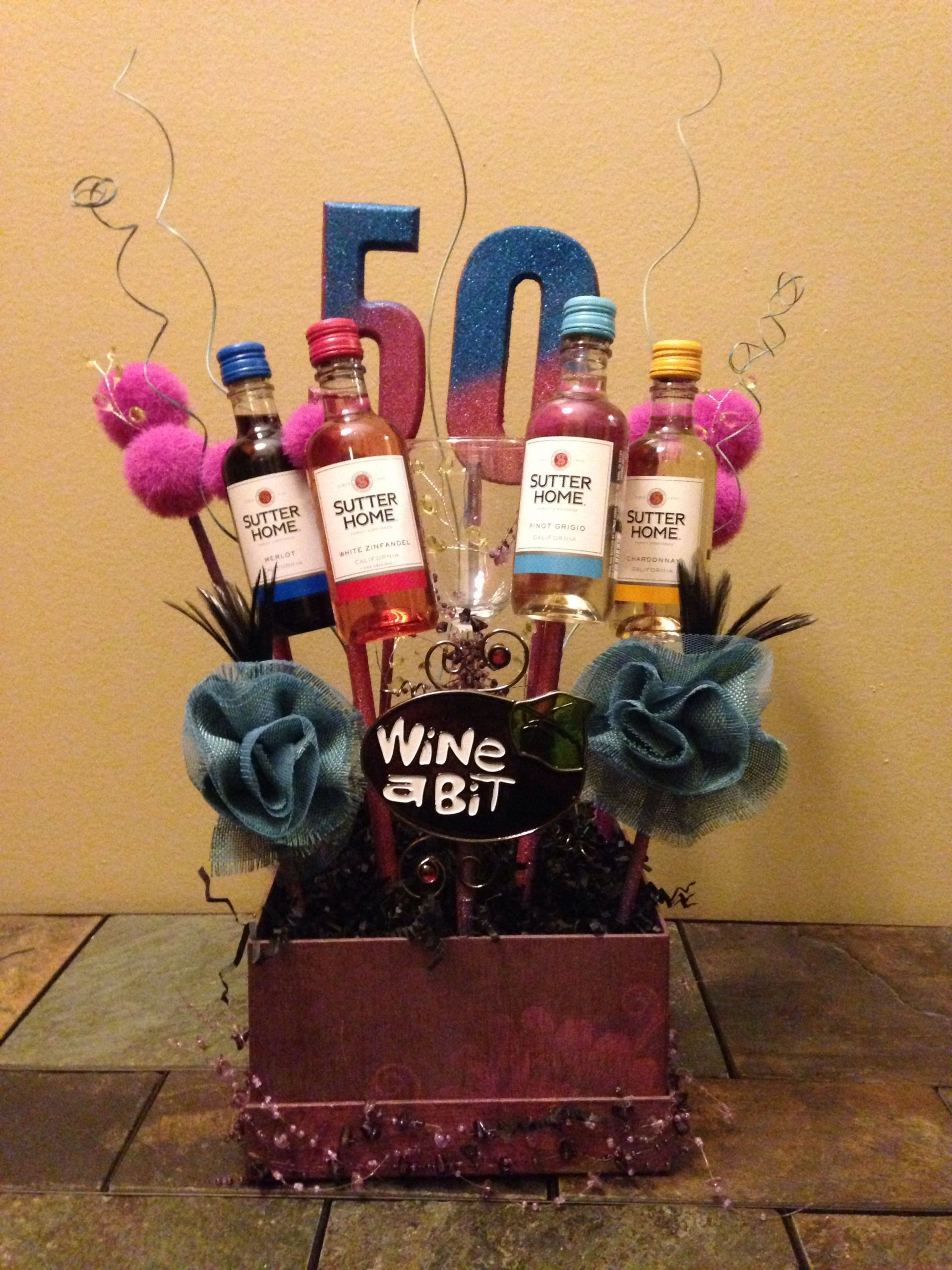 Fifty Birthday Gift Ideas  50th Birthday Basket PARTY PLANNING ENTERTAINING