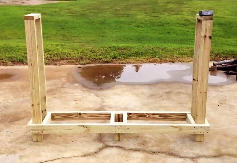 Firewood Rack DIY  4 FREE Firewood Rack Plans Built from 2x4s Two Under $30