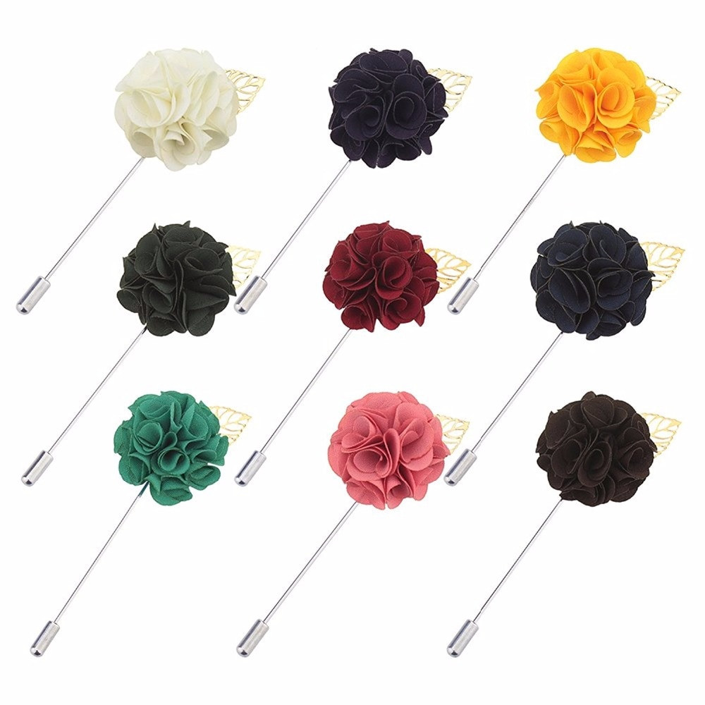 Flower Pins  Aliexpress Buy Fabric Flower Lapel Pin Elegant Women