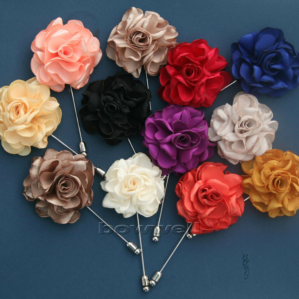 Flower Pins  HANDMADE KingKong FLOWER Rose Boutonniere Wedding Mens