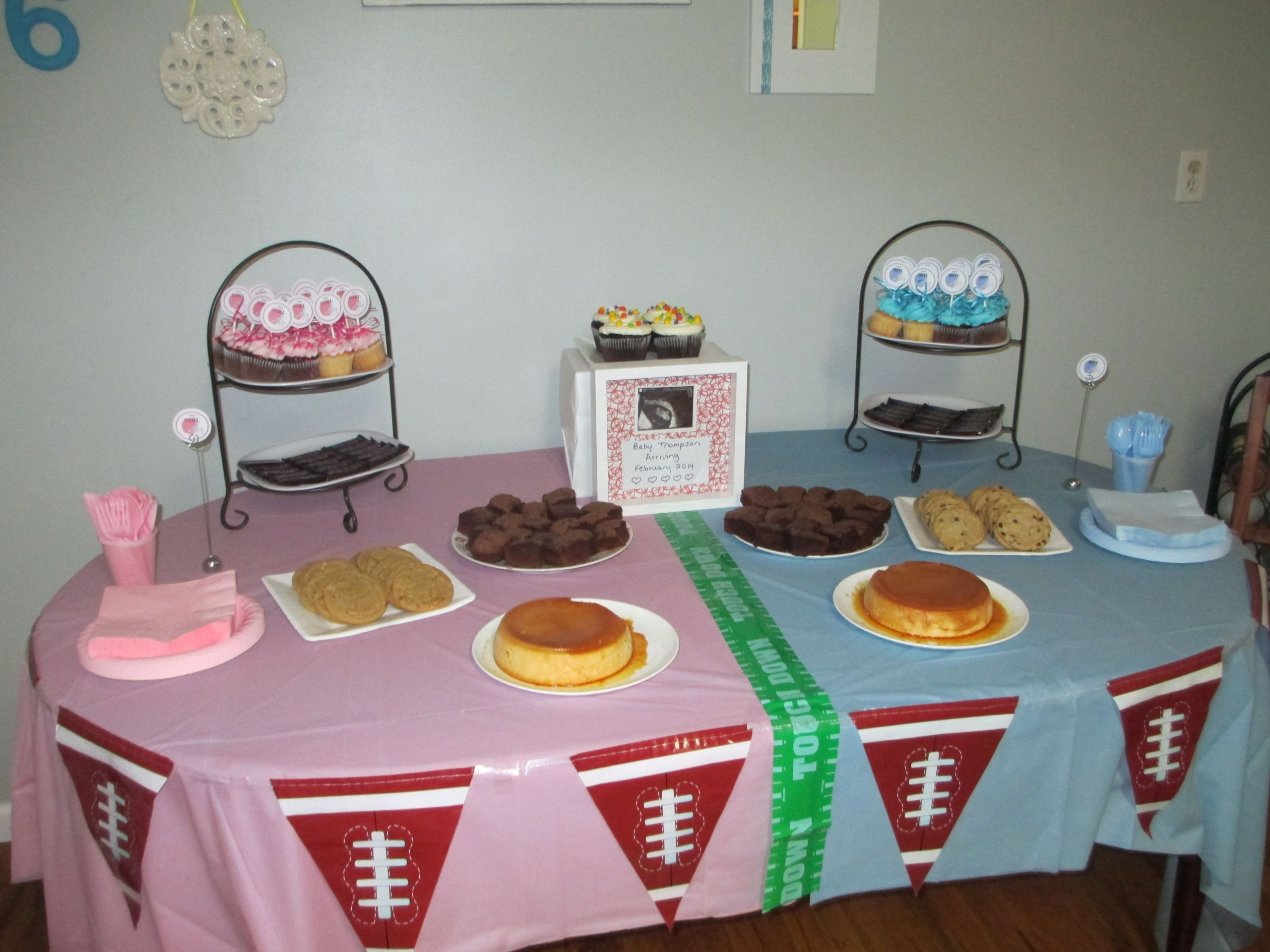 Football Themed Gender Reveal Party Ideas  Football themed Gender Reveal Pink VS Blue