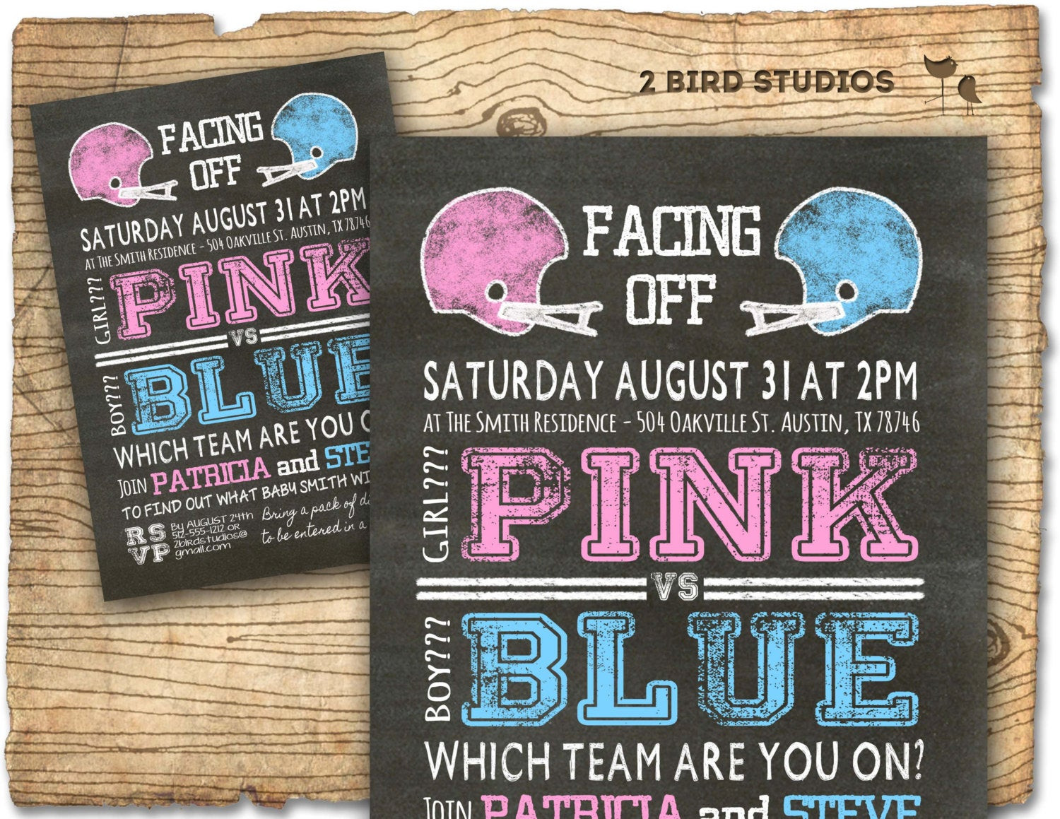 Football Themed Gender Reveal Party Ideas  Football gender reveal invitation football baby shower invite