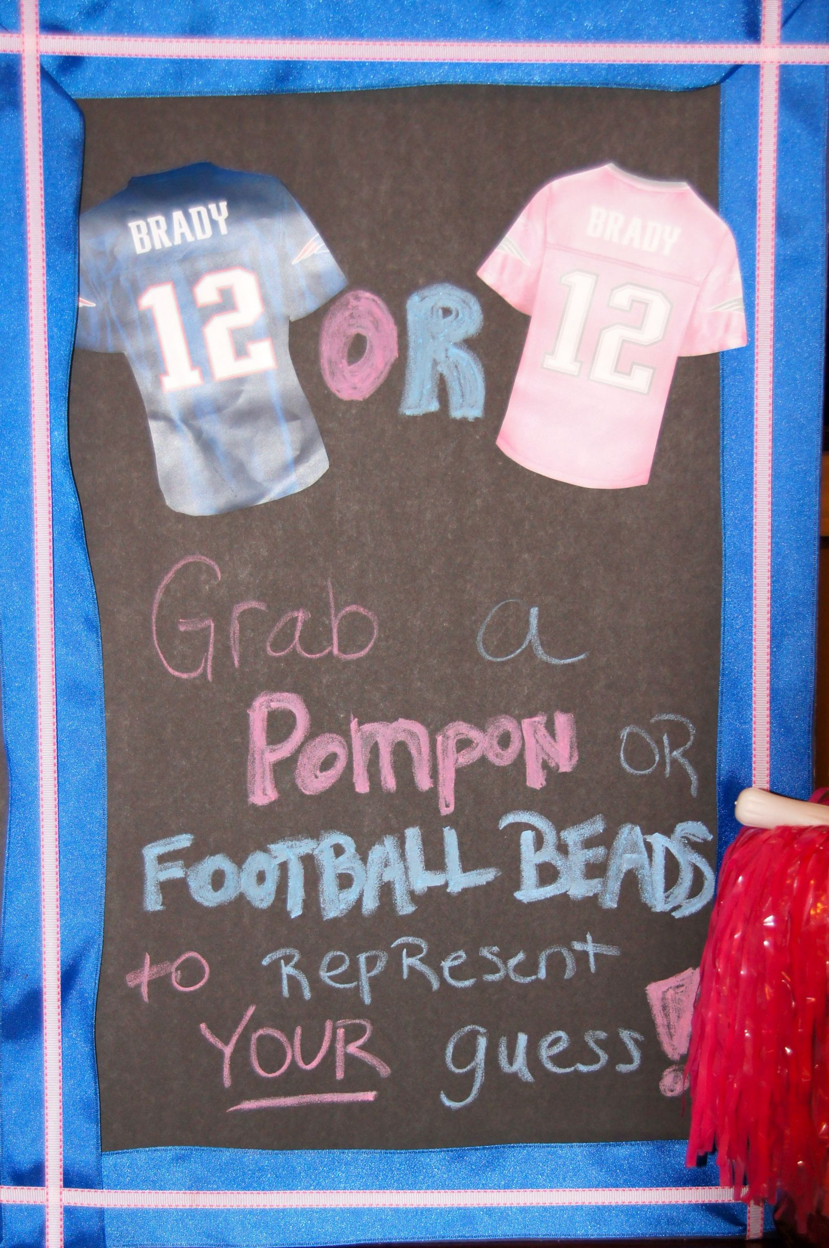 Football Themed Gender Reveal Party Ideas  Football gender reveal patriots theme