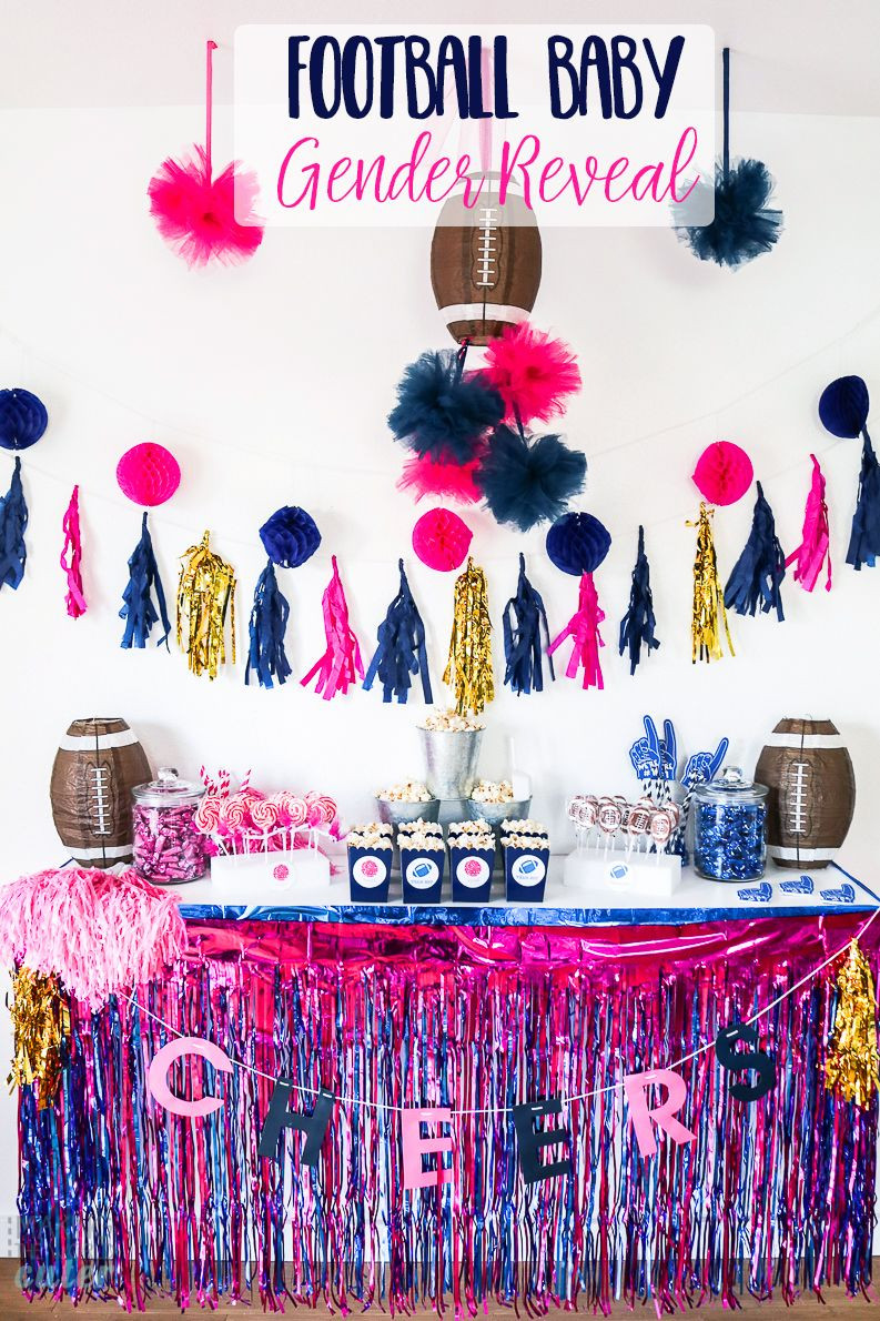 Football Themed Gender Reveal Party Ideas  How To Throw An Amazing Football Baby Gender Reveal Party