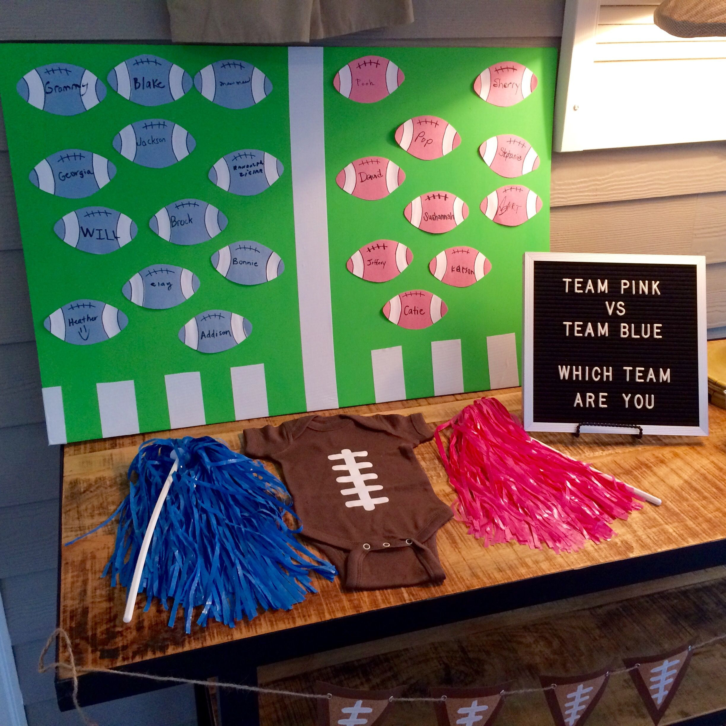 Football Themed Gender Reveal Party Ideas  Football Themed Gender Reveal