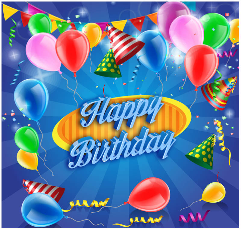 Free Download Birthday Wishes  FREE 10 Vector Birthday Celebration Greeting Cards for
