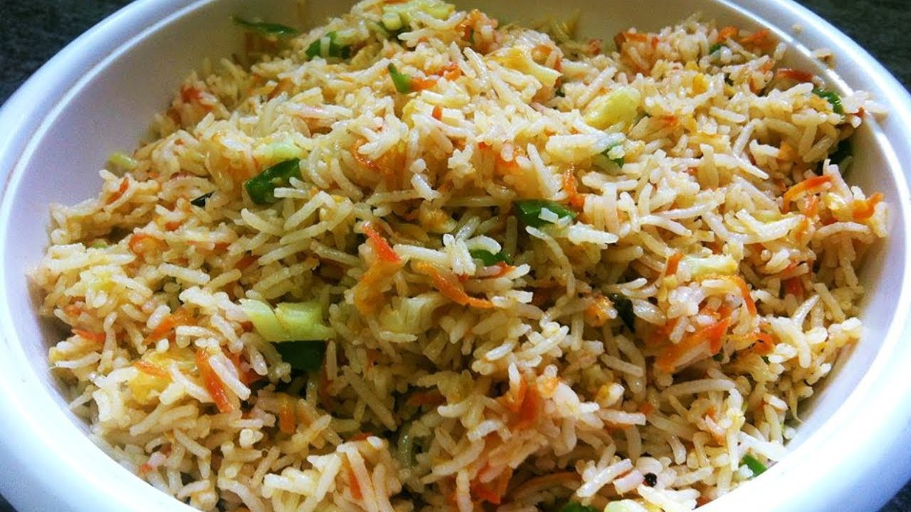 Fried Rice Recipe Indian  Ve able Fried Rice