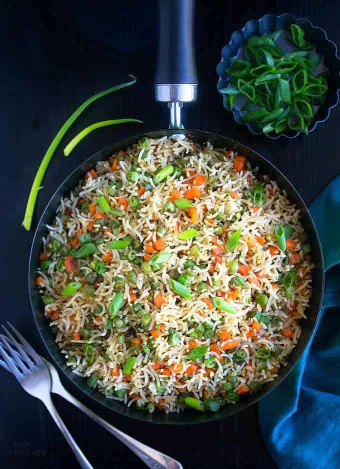 Fried Rice Recipe Indian  Ve able Fried Rice Indian Style Video