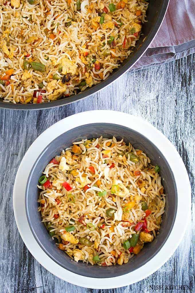 Fried Rice Recipe Indian  Egg Fried Rice Indian Style Video