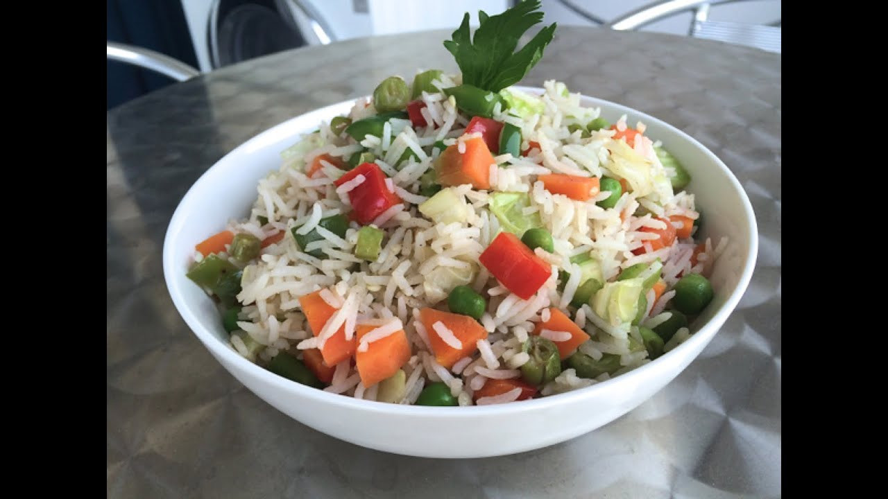Fried Rice Recipe Indian  How to cook VEGETABLE FRIED RICE