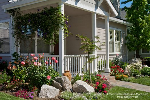Front Porch Landscape Ideas  Landscaping with Rocks Around Your Porch